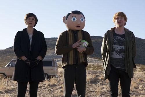 Frank: Maggie Gyllenhaal, MichaelFassbender, Domhnall Gleeson (photo by Lorey Sebastian)