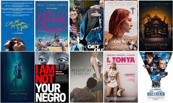 Rob Goald - 2017 Top 10 Movies