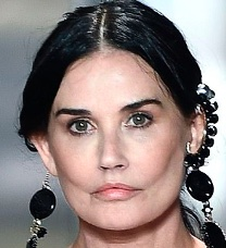 Demi Moore at the 2021 Fendi Spring couture catwalk