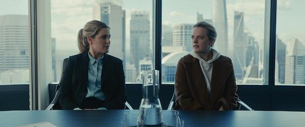"(from left) Emily Kass (Harriet Dyer) and Cecilia Kass (Elisabeth Moss) in ""The Invisible Man,"" written and directed by Leigh Whannell."