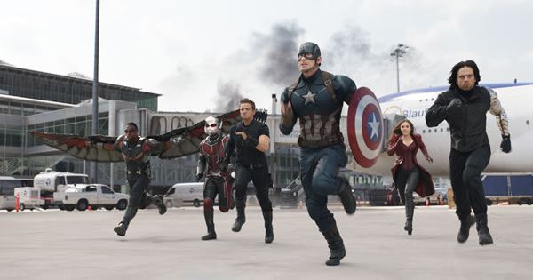 Film image from Captain America: Civil War