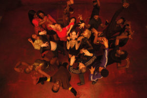 """Sofia Boutella, Romain Guillermic, Souhelia Yacoub and Kiddy Smile in """"Climax"""""""
