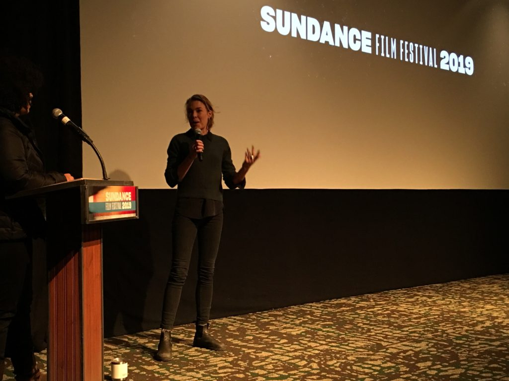 January 30th, 2019 - Park City, Utah - Q&A with Director Mirrah Foulkes after the screening of her movie JUDY & PUNCH at the Park Avenue Theatre during the 2019 Sundance Film Festival