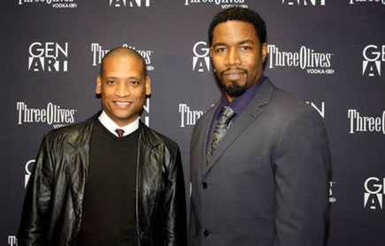 Director Scott Sanders and Michael Jai White at the New York Premiere of BLACK DYNAMITE