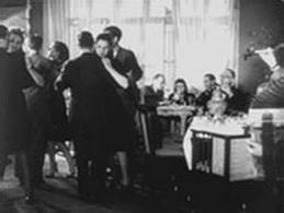 A Nazi staged Warsaw Ghetto dinner scene