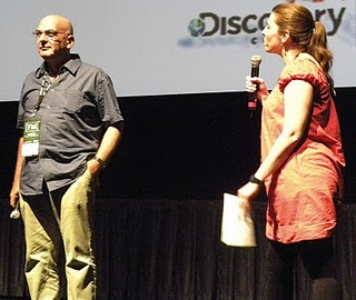 Director Eytan Harris with SILVERDOCS Creative Director, Skye Sitney conducts the Q&A after the screening