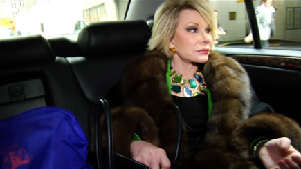 Joan Rivers in a scene from Ricki Stern and Annie Sundberg's JOAN RIVERS - A PIECE OF WORK - Photo courtesy of Seth Keal
